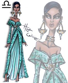 Hayden Williams Fashion Illustrations — 'Seeing Signs' by Hayden Williams - Libra Hayden Williams, Libra Art, Zodiac Art, Libra Astrology, Libra Horoscope, Libra Zodiac, Signes Zodiac, Illustration Mode, Fashion Design Sketches