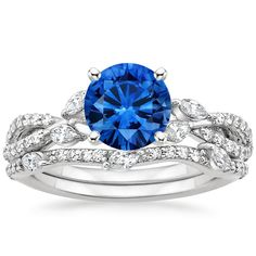 18K White Gold Sapphire Luxe Willow Matched Set (1/2 ct. tw.) from Brilliant Earth