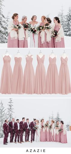 Make your Winter Wedding Dream come true! Our dresses are affordable, high quality, and size inclusive! We have styles come in colors from size 0 - Dusty Rose Bridesmaid Dresses, Wedding Bridesmaids, Wedding Dress Shopping, Wedding Party Dresses, Wedding Ideas On A Budget Uk, Wedding Arbors, Winter Wonderland Wedding, Winter Wedding Inspiration, Wedding Bells