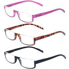 5c0706195e4 Kerecsen 3 Pair Half Frame Reading Glasses Lightweight Unisex Spring Hinge  Readers. kssif · Womens Fashion Winter