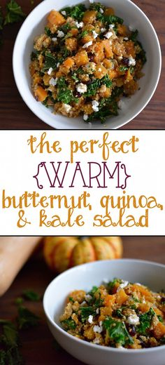 The Perfect Warm Butternut Quinoa & Kale Salad *21 Day Fix approved!*