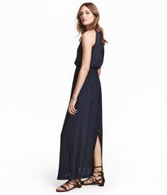 Lang kjole | Mørkeblå | Dame | H&M DK