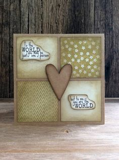 Handmade Mother's Day card Rustic card Wife by CraftingEmotion