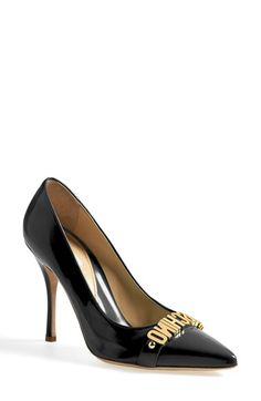 Moschino Letter Pointy Toe Pump (Women) available at #Nordstrom