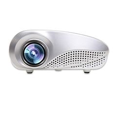 Projector Lary intel LED Video Projector Home Projector with Free HDMI Support 1080P for Home Cinema Theater AV TV VGA USB HDMI Laptop Game SD iPad iPhone Android SmartphoneWhite >>> You can find out more details at the link of the image.
