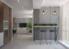 Гостиная-кухня в современном стиле