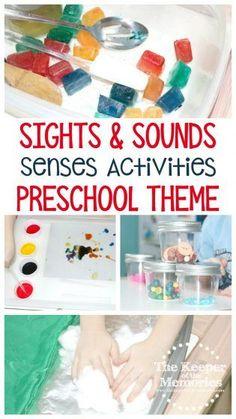4 Sights & Sounds of Winter Senses Preschool Monthly Theme Crafts & Activities