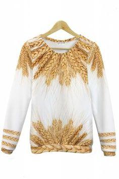 Folkowa bluza z nadrukiem Zboże KokoSwag
