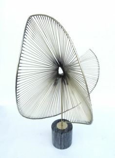 Large Curtis Jere Abstract Dimensional Bent Wheel Brass Spoke Sculpture | eBay