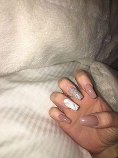 Long Acrylic Nails Marble