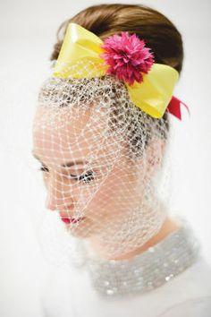 Pink Pop & Mod #Wedding Hair Piece