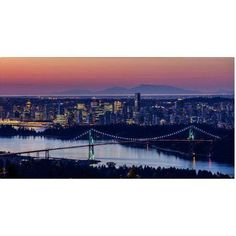Trademark Fine Art Vancouver Sunrise Canvas Art by Pierre Leclerc, Size: 12 x 24, Multicolor