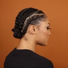 braided hairstyles for long hair videos simple tutorial bridal hair inspirations Cornrows Natural Hair, Natural Braided Hairstyles, Protective Hairstyles For Natural Hair, Box Braids Hairstyles, Twist Hairstyles, Cornrows Short Hair, Hairstyles Videos, Hair Ponytail Styles, Curly Hair Styles