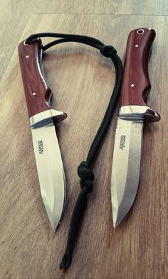 My design of a hunting knife, a pair made for me by Alan Wood, more UK made goodness