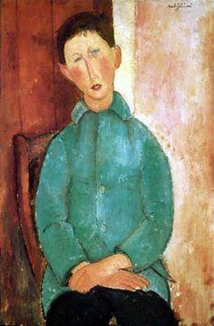 Amedeo Modigliani - Niño en una chaqueta verde