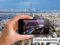 Paris, 1000-Pieces Augmented Reality Puzzle with video-animation.