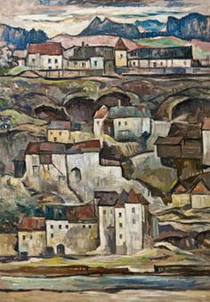 Leopold Hauer: Lot 0977 - Künstler von A-Z Houses, Urban, Painting, Art, Art Ideas, Homes, Painting Art, Paintings, Kunst