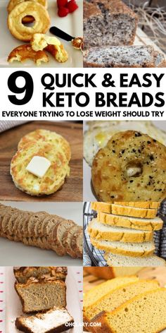 9 Quick & Easy Low Carb Bread Recipes That ACTUALLY Taste Good! These super satisfying keto bread recipes are made with almond flour & coconut flour and taste just as good as store bought bread. Make the best healthy bread loaf and keto bread rolls and f Keto Bread Coconut Flour, Keto Mug Bread, Keto Flour, Keto Banana Bread, No Bread Diet, Best Keto Bread, Almond Flour Recipes, Almond Meal, Coconut Recipes