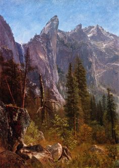 Albert Bierstadt - Discover Exceptional Oil Paintings Lost Arrow, Yosemite Valley - The Largest Art reproductions in UK online.