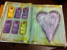 Original pinner sez: My Art journal / Mix media 2014 by VickyTA in Madrid heart