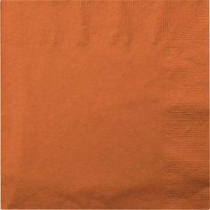 "Orange Lunch Napkins, 13"", 20-ct. Pack"