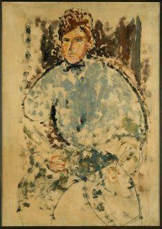 Amedeo MODIGLIANI (1884-1920), Portrait du peintre Baranovski Vers 1917