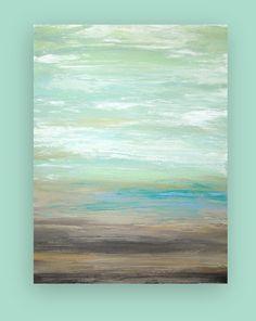 Shabby Chic Beach Art Original Acrylic Painting by OraBirenbaumArt, $365.00