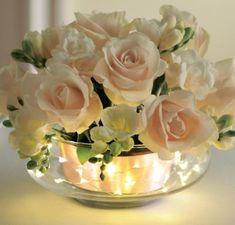 Fall Wedding Centerpieces, Flower Centerpieces, Centerpieces With Lights, Fishbowl Centerpiece, Centerpiece Ideas, Diy Wedding, Wedding Flowers, Wedding Ideas, Light Wedding