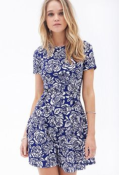 Floral Pleated A-Line Dress | FOREVER21 - 2000083456