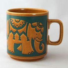 Hornsea Pottery - Indian Elephant Mug Coffee Snobs, Best Coffee Mugs, Coffee Cups, Hornsea Pottery, Ceramic Pottery, Pottery Painting, Ceramic Painting, Portmeirion Pottery, Elephant Mugs