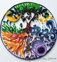 Quilled Goddess Mandala
