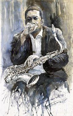 """""""Jazz Saxophonist John Coltrane"""" ... by Yuriy Shevchuk"""
