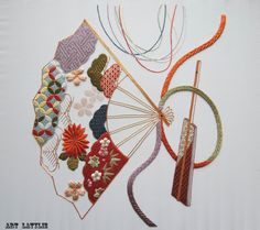 Broderie japonaise : SENSU par Laurelp - thread&needles