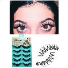 Thick whispy lashes Demi whispeys Not brands listed. Comes with five brand-new. PINK Victoria's Secret Makeup False Eyelashes