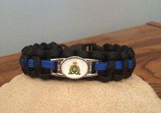 RCMP Thin Blue Line Paracord Bracelet by FrontLine1Paracord