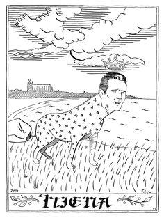 El Bestiario que ha realizado Felipe Montero, es una crítica a las políticas de austeridad de su país (España), siendo la animalización de los personajes políticos protagonistas de ésta situación tan dramática por la que están pasando. Mariano Rajoy (presidente del gobierno), Angela Merkel (canciller alemana), Cristobal Montoro (ministro de hacienda), etc, son los protagonistas de este Bestiario.