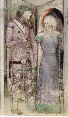 BNF Nouvelle acquisition française 5243 Guiron le Courtois - Italy (are those tippets all the way up by her shoulder? Medieval Fashion, Medieval Clothing, Historical Clothing, Historical Photos, Medieval World, Medieval Art, Medieval Costume, Medieval Dress, 14th Century Clothing