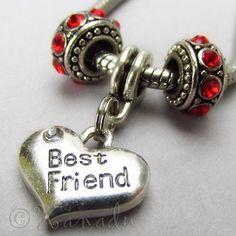 Best Friend European Birthstone Trio For Large Hole Charm Bracelets