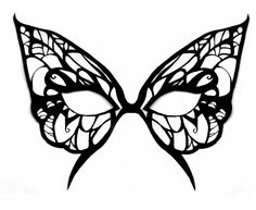 Butterfly mask template by michanXxXsakura on deviantART