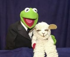 Aww, Kermie hanging out with Lambchop? Some of my childhood favorites!