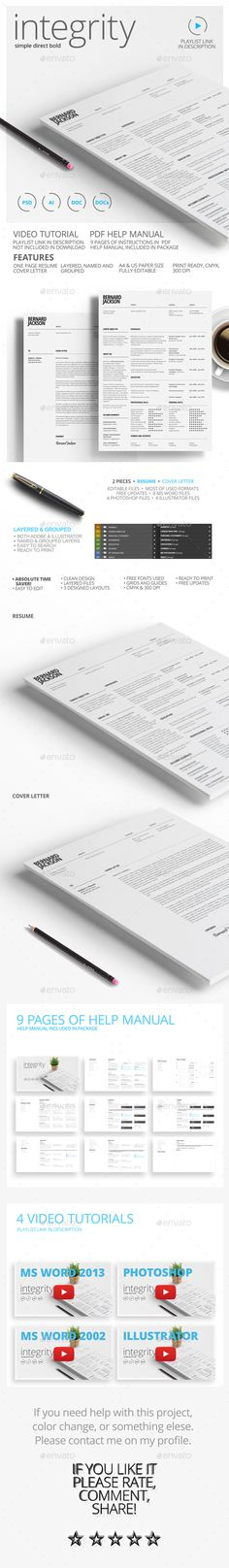 ResumeCv Bundle  Resume Cv And Template