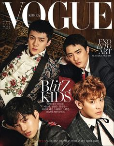 Vogue Korea Magazine April 2017 B Type K-pop EXO Sehun Chanyeol Kai D.O. cover