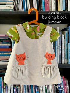 Jumper made from the Oliver + S Building Block Dress book