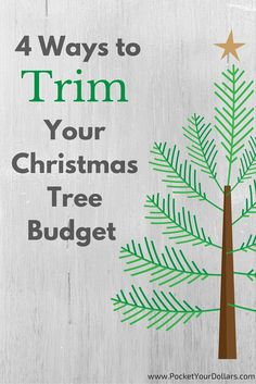 Four ways for real tree lovers and four ways for fake tree shoppers. www.pocketyourdollars.com