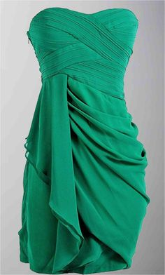 Draped Flowing Sweetheart Short Bridesmaid Dresses KSP294