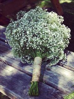 Inspiración: ramos de novia con paniculata http://blog.higarnovias.com/2015/09/25/ramos-de-novia-con-paniculata/ #Entrebastidores #BlogHigarNovias
