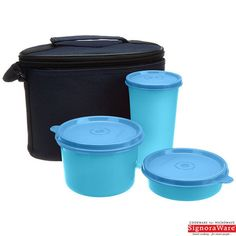 Signoraware Combo Executive Lunch Box With Insulated Bag, Blue