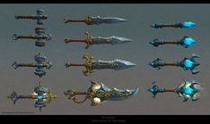 Crafted Weapons by FirstKeeper on DeviantArt
