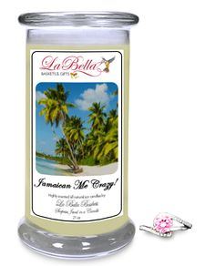 Jamaican Me Crazy! is a blend of tropical fruits with a twist of citrus and a hint of coconut! This scent truly takes you to the Island of Jamaica or pretty much anywhere tropical. Just sit back, relax and burn this candle while your eyes are closed and you will feel like you are on one of the world's most tropical beaches.  What will you find in your Scented Jewelry Candle?  $24.95  Save 10% Coupon Code: save10 #candles