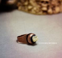 Creepy Molar Ring : antique copper adjustable round ring, and creepy acrylic human tooth. by Anamnesis Syndrome